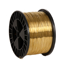 25 GA. WIRE ON 5LB SPOOLS GOLD ALLOY
